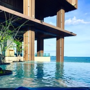 The Infinity Pool at the Hilton Hotel in Pattaya Beach