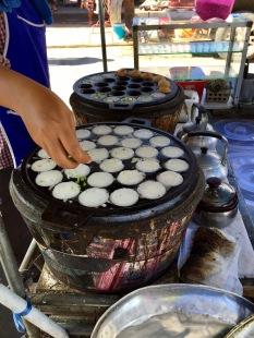 Sweet treats from one of the street vendors at the Maeklong Railway Market