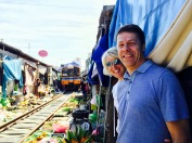 Maeklong Railway Market in bangkok - Yest the train actually comes through!