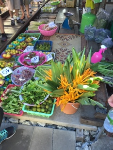 Flowers at the Maeklong Railway Market