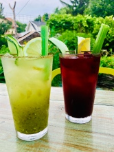 Tomatillo Bloody Maria and Beetroot Bloody Mary