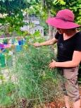 Andrea educating us on vertical growing methods