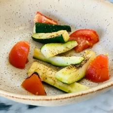 Roasted Zucchini & Fresh Tomatoes